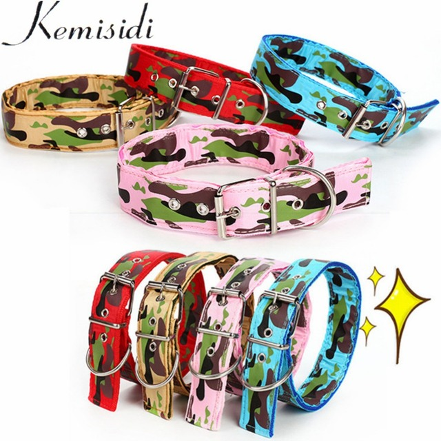 KEMISIDI Super Large Strong Canvas Army Dog Collar Adjustable Buckle Double Row Pet Collar For Medium Large Dog Golden Retriever