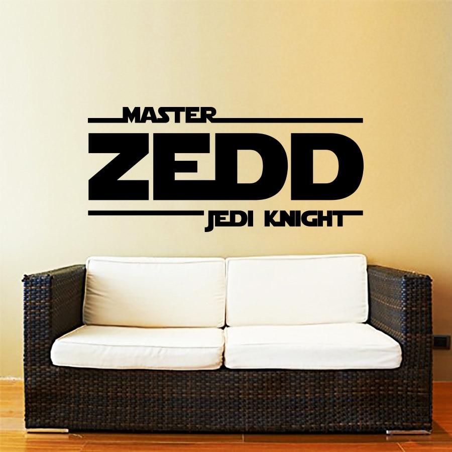 Star Wars Name Decal Quote Jedi Knight Vinyl Wall Decals Sticker ...