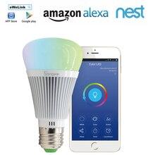 Aihasd Sonoff B1 Wifi RGB LED Lamp Bulb Dimmable E27 RGB Color Light 90-250V ESP8285 for Smart Home Amazon Echo Dot Google Home