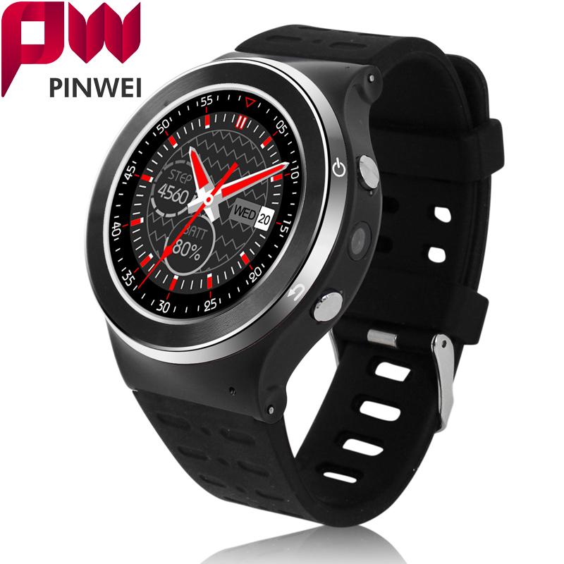 PINWEI S99 Android 5.1 Smart Watch Phone MTK6580 Quad-core 360*360 Bluetooth GPS WiFi Heart Rate 3G Smartwatch With 8GB ROM bluetooth heart rate gps smart watch kw88 mtk6580 quad core 1 39 inch resolution 400 400 3g wifi smartwatch phone