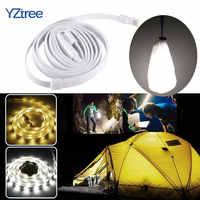 YZtree Portatile Impermeabile HA CONDOTTO LA Striscia 1.5m DC5V USB Flessibile di SMD 2835 LED Luce Della Corda per Escursione di Campeggio Esterno Tenda lanterna Lampada