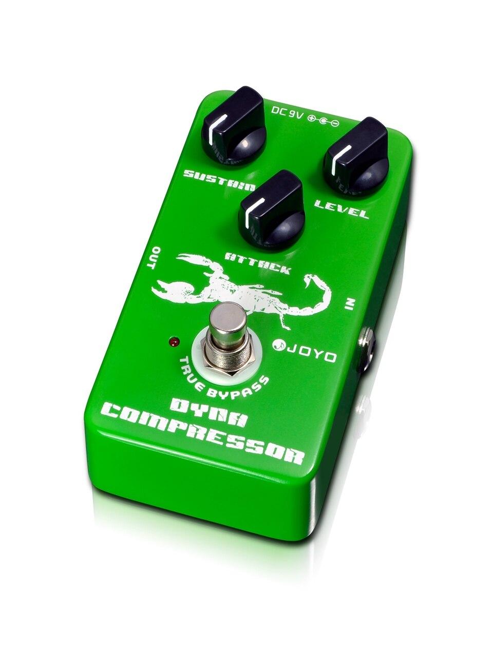 JOYO Dynamic Compressor Gitarren-Effektpedal Low Noice Speziell für Bass und High Output Active Pickup