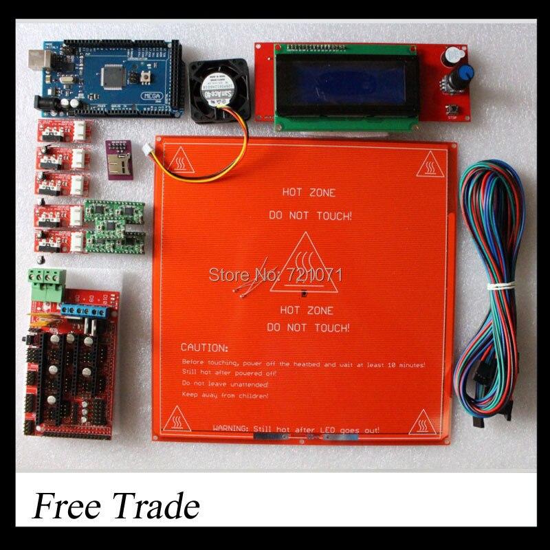 ramps kit Ramps 1 4 SD ramps MK2B Mega2560 R3 2G memory card Cooler Fan A4988