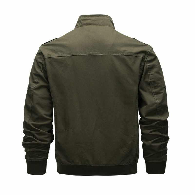 Военная бейсбольная куртка, Мужская тактическая куртка-бомбер, мужская куртка размера плюс 6xl, повседневная куртка на молнии, хлопковая куртка для пилота