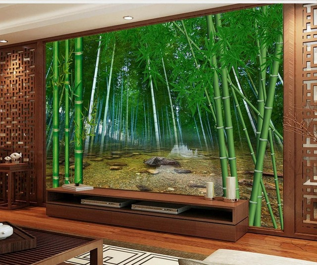 mural 3d wallpaper 3d wall papers for tv backdrop bamboo TV