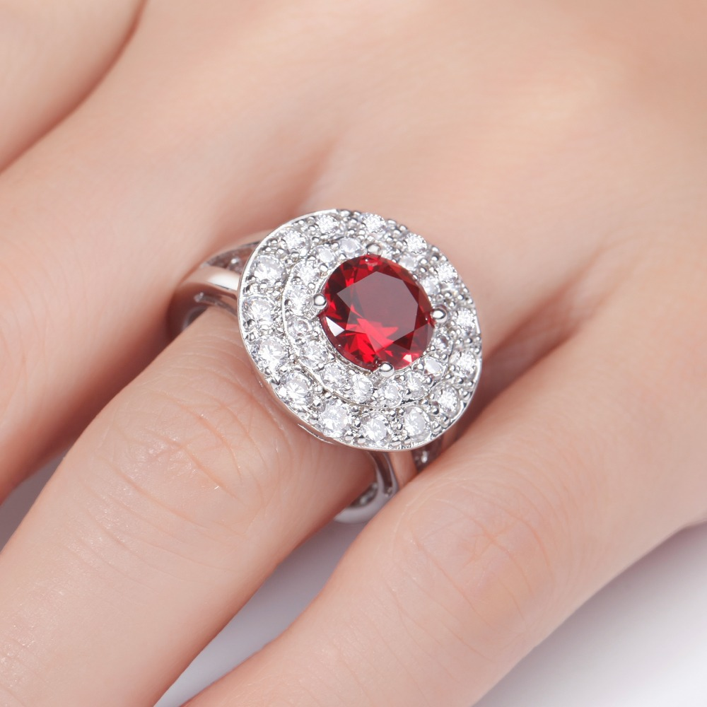 Luxury Black Wedding Rings For Women With Large Stones Zircon ...