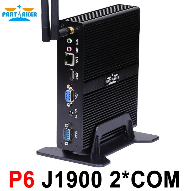Partaker Intel Celeron J1900 Mini Pc Quad Core Fanless Pc With VGA HDMI Support Windows Linux Ubuntu