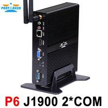 Причастником Intel Celeron J1900 Mini PC Quad core Безвентиляторный ПК с VGA HDMI Поддержка Windows Linux Ubuntu