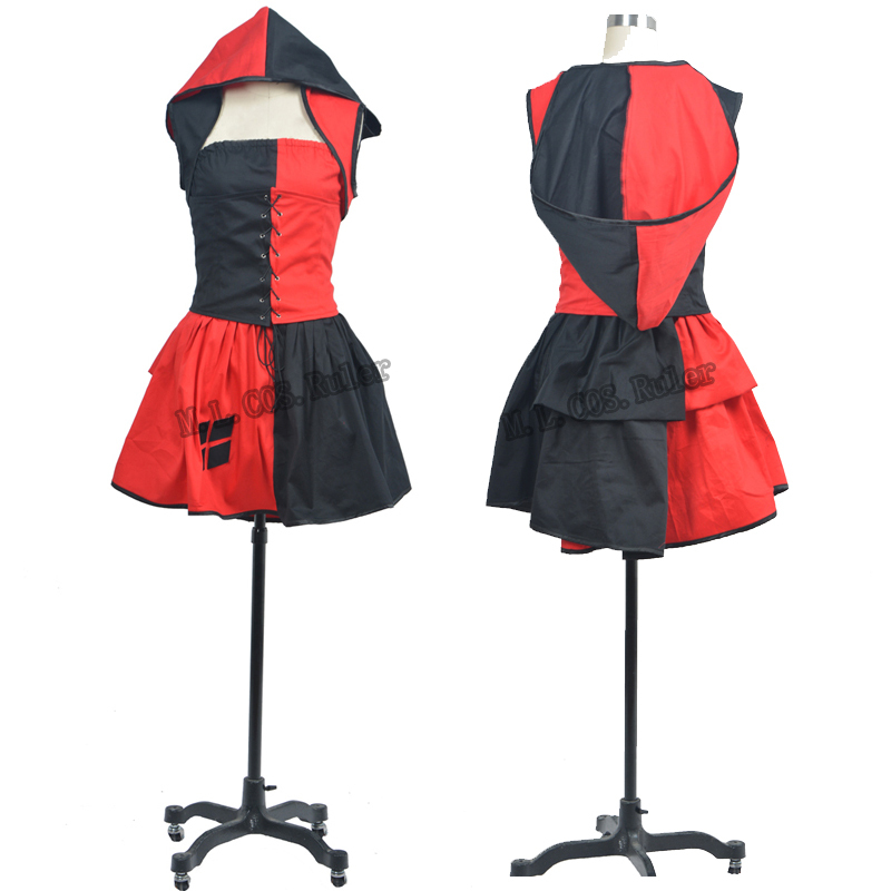NEW ARRIVAL Batman Harley Quinn Cosplay Costume Dress Up Custom Made for Halloween