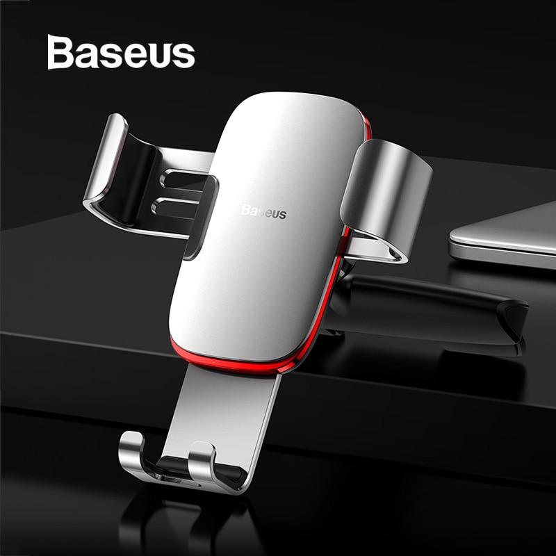 Baseus Gravidade Suporte Do Telefone Do Carro para Abertura Do CD Car Mount Suporte Phone holder para o iphone X Samsung S10 Metal Celular suporte Do Telefone móvel