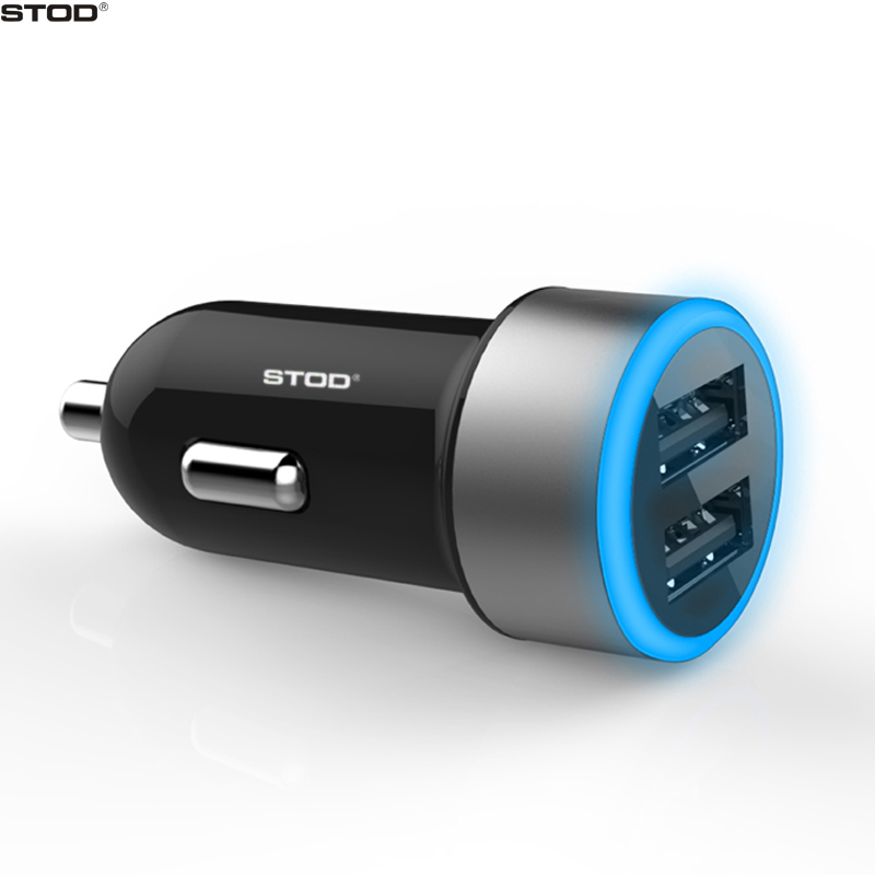 Flight Tracker Dual Usb 4.8a Car Charger Adapter Led Display Fast Charging For Iphone Sams Home
