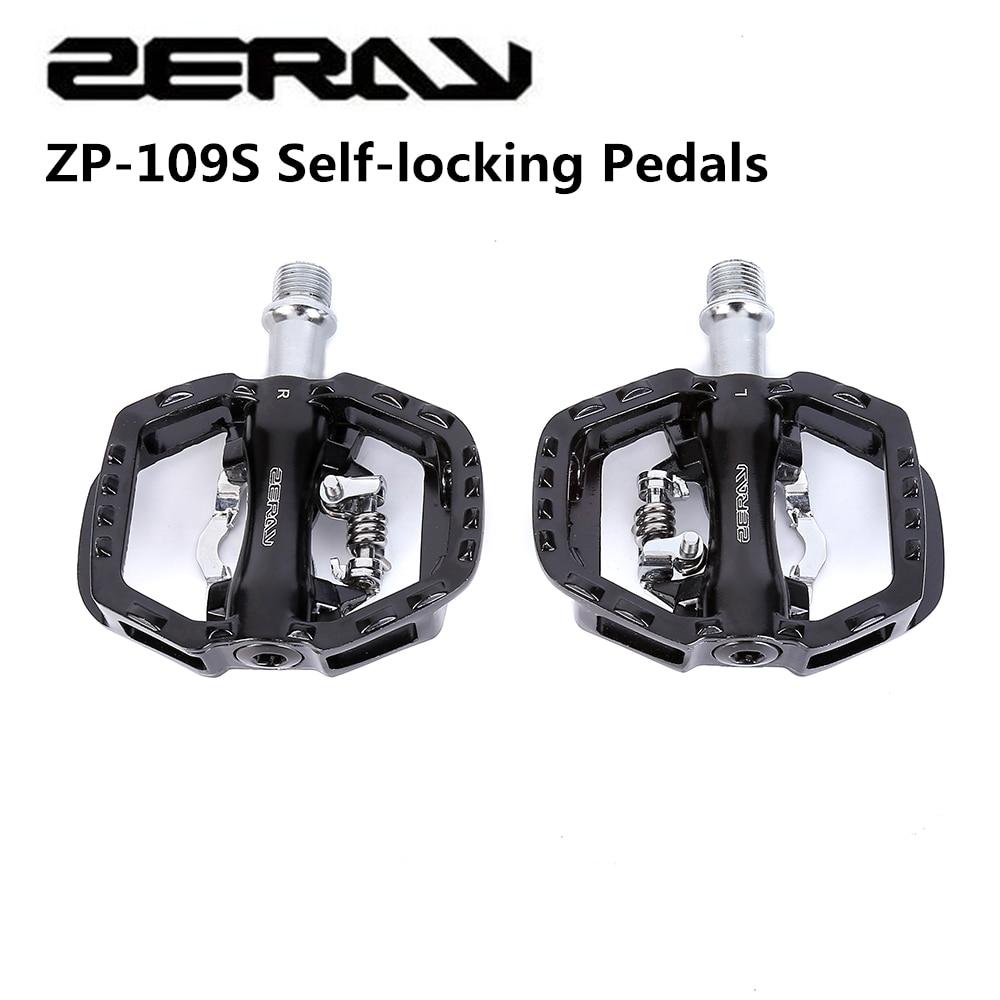 Zeray ciclismo bicicleta de estrada mtb clipless pedais auto-travamento pedais ZP-109S spd compatível pedais peças da bicicleta atualização de ZP-108S