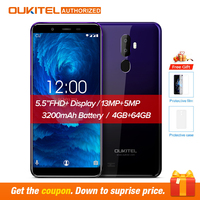 Oukitel U25 pro 5.5 Inch FHD Display Android 8.1 Mobile Phone Octa Core Cell Phone RAM 64G ROM 13MP 3400mAh 4G Smartphone