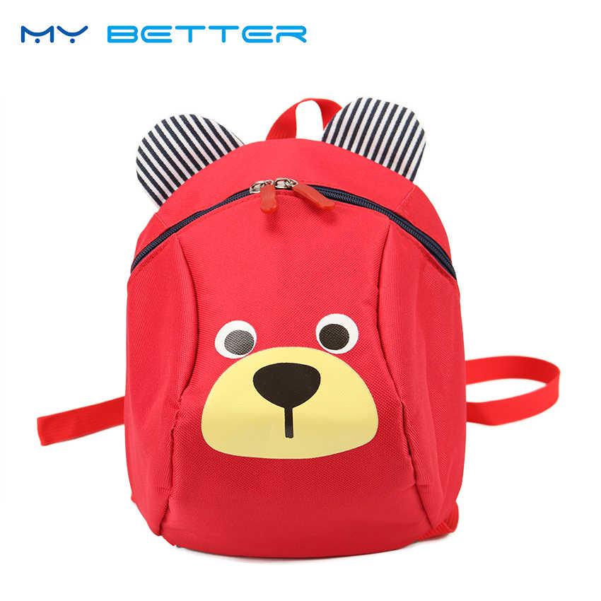العمر 3-5 طفل على ظهره لمكافحة خسر الاطفال الطفل حقيبة الكرتون الحيوان الأطفال الظهر الروضة حقيبة مدرسية Mochila اجتماعيون