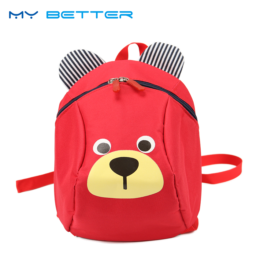 Aged 3-5 Toddler Backpack Anti Lost Kids Baby Bag Cartoon Animal Children Backpacks Kindergarten School Bag Mochila Escolar aged 1 5 toddler children kids boy bagpack rabbit backpack canvas kindergarten school book shoulder bags rucksack mochila 130296