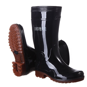 Wear-resistant and oil-resistant insulated rain boots Waterproof non-slip insulated boots