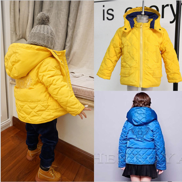 Дети мода высокого качества пуховики дети бренд зима теплая с капюшоном пиджаки тигр головой вышитые пальто одежда