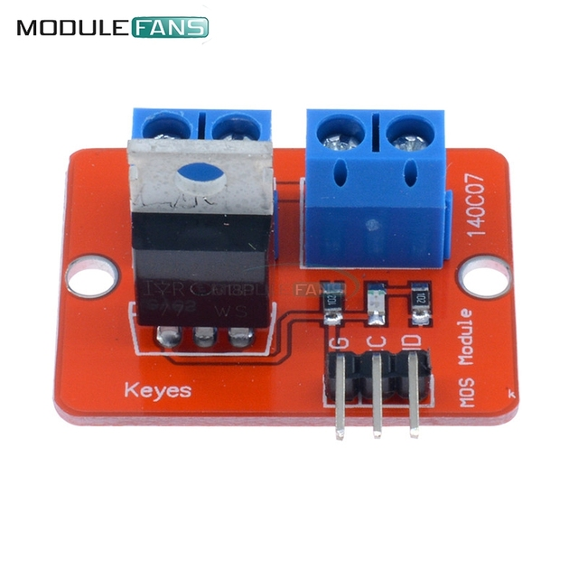 2 unids Top Mosfet botón IRF520 Mosfet módulo de controlador para Arduino MCU ARM para Raspberry Pi 3,3 V-5 v IRF520 MOS de potencia PWM LED de atenuación