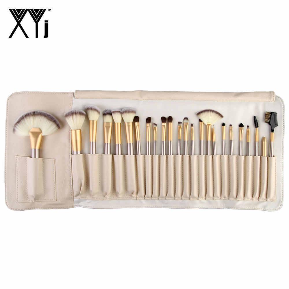 24 шт. набор кистей для макияжа полный набор инструментов для макияжа Тени для век Кисть Премиум синтетическая основа смешивание скрывающий порошок кисть