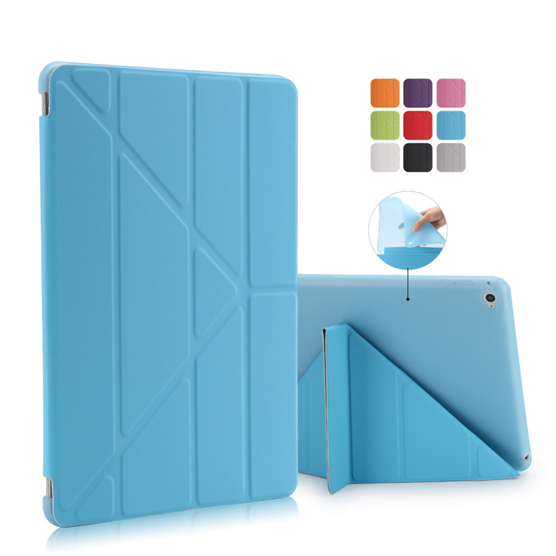 Image 2 - For Ipad Air 2 / Air 1 Smart Case 5 Shapes Stand Ultra Thin PU Leather Cover Silicon Soft Case For iPad 5 / 6 Auto Sleep/Wake up-in Tablets & e-Books Case from Computer & Office
