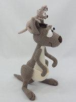 Amigurumi CrochetKanga Roo and Baby Roo toy doll rattle