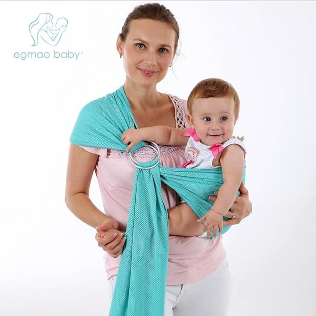9b299c457f5 EGMAOBABY Porte-Bébé Sling Pour Nouveau-nés Souple Infantile Wrap Respirant  Wrap Siège Pour