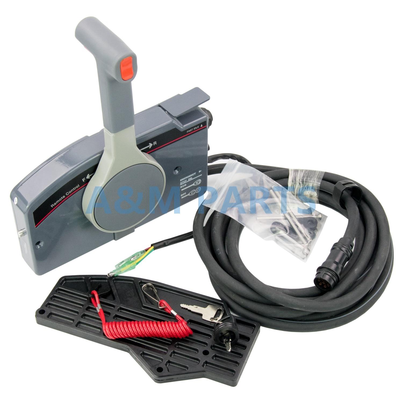 PUSH Gaz Télécommande Boîte 703 pour Yamaha Hors-Bord Montage Latéral 7 Pin Câble Sans Inclinaison et Trim