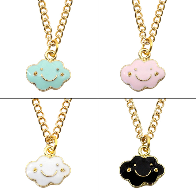 Diy trendy pendant of anime cute smiling cloud necklacespendants diy trendy pendant of anime cute smiling cloud necklacespendants gold chains childhood for christmas girls gifts aloadofball Choice Image
