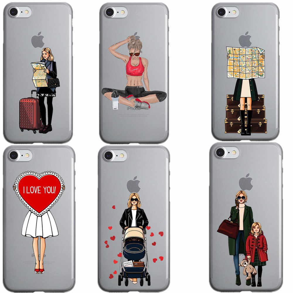 newest 21a00 8d8be Luxury Fashion Travel Beautiful Sports Girl Women princess Hard PC Phone  Cases Cover For iPhone 7 8 Plus 6 6SPlus 5 5S SE X