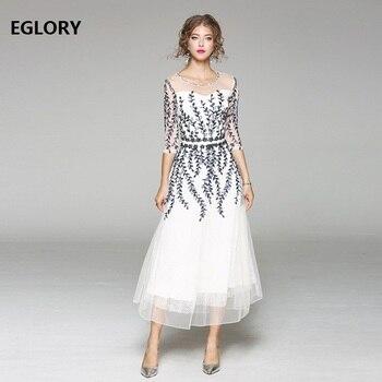 113257a0ef Las mujeres de lujo boda fiesta Vestido largo de verano 2019 mujer Sexy tul  encaje bordado de cordón rosa azul vestido Maxi Vestidos Longo