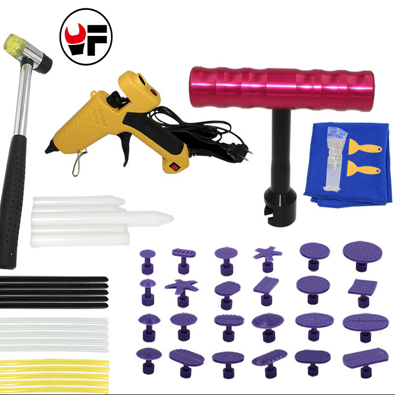 Paintless Car Dent Repair Tools Kit Removal Car Body Tool Kit Dent Puller Tool Set Straightening