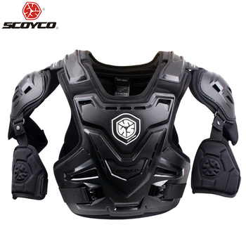 SCOYCO Motorcycles Motocross Chest Back Protector Armadura Vest Racing Protective Body Guard MX Armor Black A-07 1
