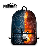 Dispalang Musical instruments print bookpack cotton Backpack fashion college backbag girls rucksack cool laptop bookbag for boy