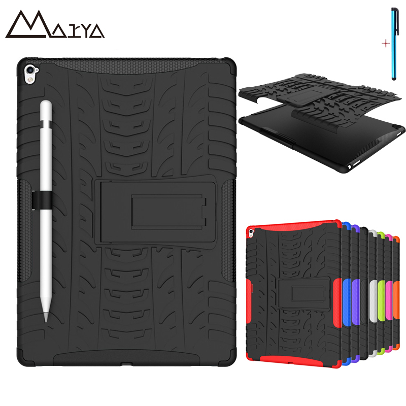 Case For iPad Pro 9.7 Case Tablet Protector Skin Rubber Shockproof Heavy Duty TPU+PC Hybrid Cover For iPad 9.7in Durable 2 in 1 for ipad mini4 shockproof rubber hybrid heavy duty stand pc tpu hard fundas case sfor apple ipad mini 4 tablet cover case coque
