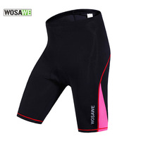 WOSAWE Summer Breathable Quick Dry Women Cycling Short Pants 3D Gel Padded Shorts Bicycle Downhill Bike