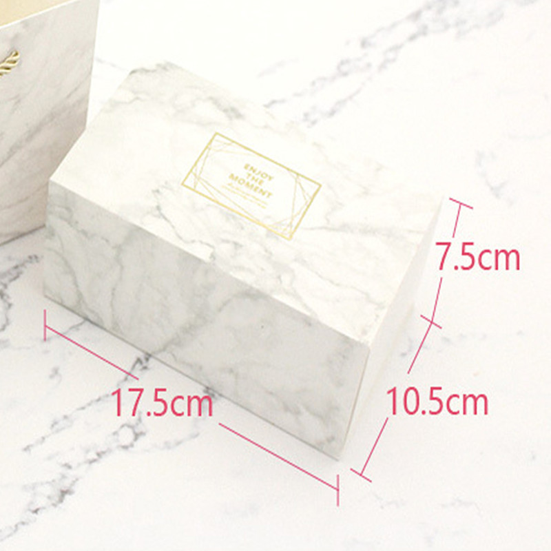 Small Box & Bag in Marble Color 3
