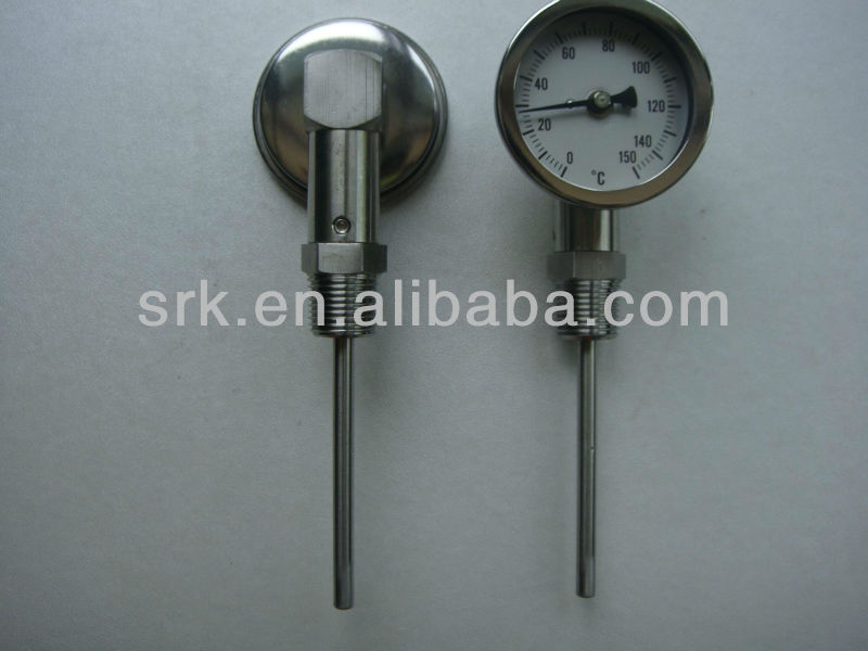 2 5 quot inch Diall bimetal thermometer with Bottome Connection SS304 0 C to 150C in Temperature Instruments from Tools