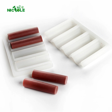 Nicole Tube Silicone Soap Mold 4-Cavity Cylindrical Mould for DIY Handmade