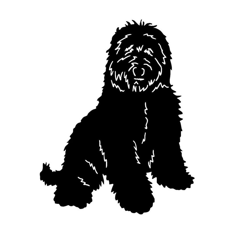10.2*12.7CM Australian Labradoodle Dog Window Decorative Decal Funny Cute Animal Car Styling Stickers C6-0760