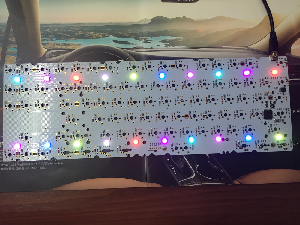 Satan Backlight 87 key DIY Mechanical Keyboard PCB White Board Flashed Firmware Support Breathing LED with Diode Free Shipping ...