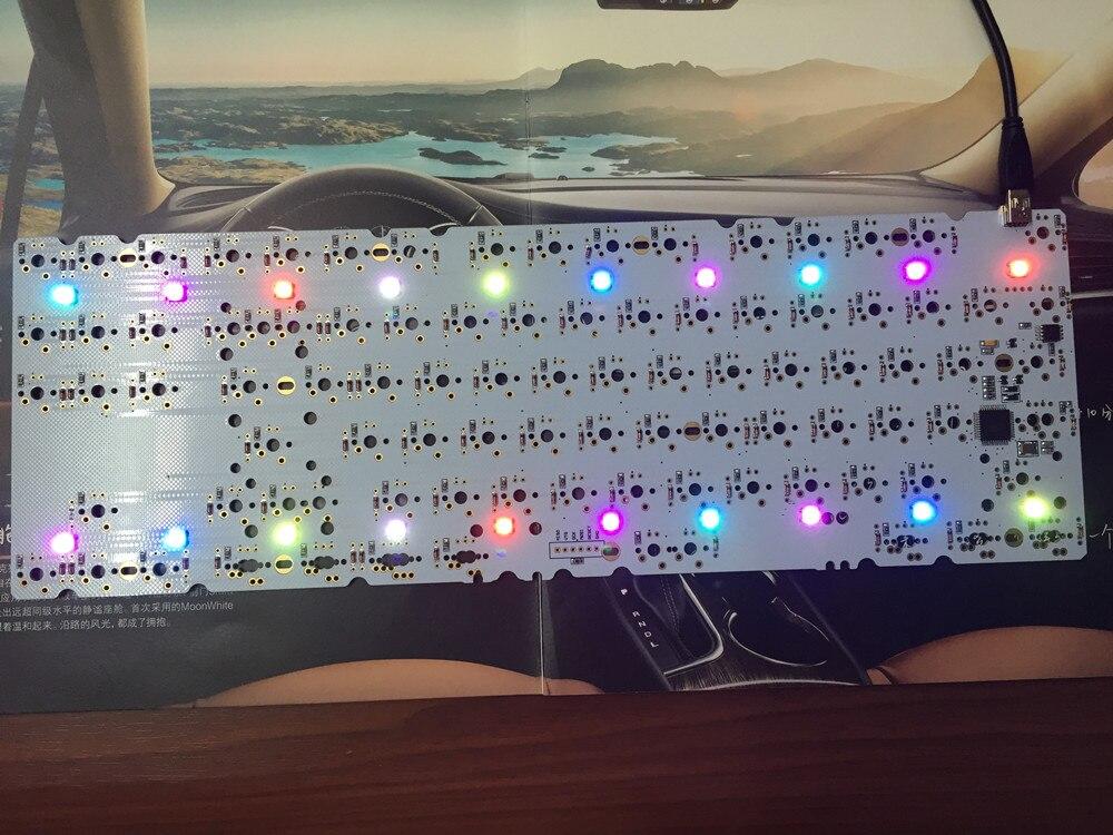Satan rétro-éclairage 87 clé bricolage clavier mécanique PCB tableau blanc flashé micrologiciel soutien respiration LED avec Diode livraison gratuite