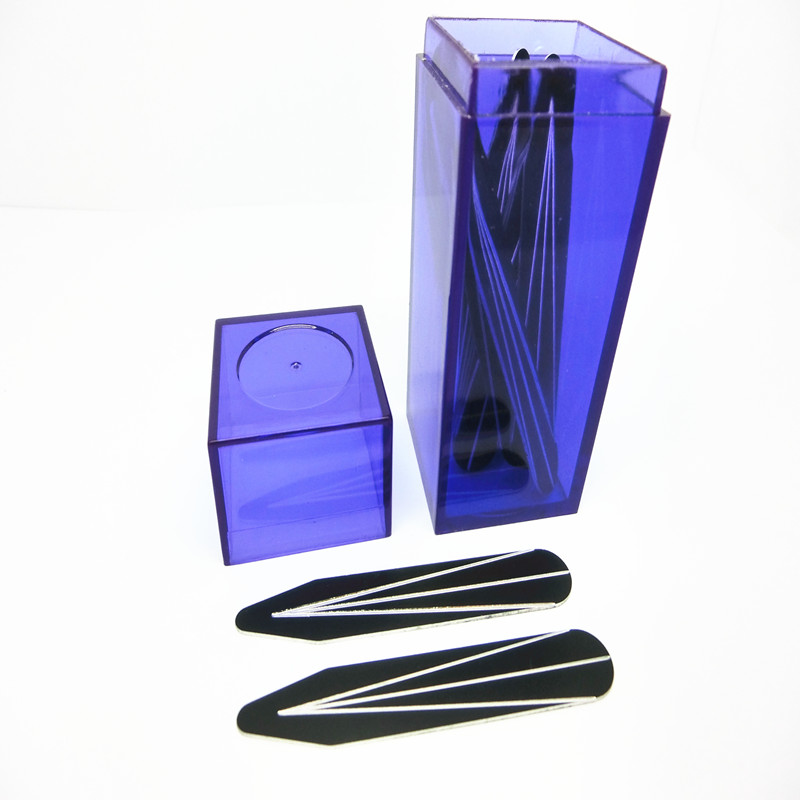 SHANH ZUN 10 Pcs Aluminum Collar Bones Good Quality For Mens Dress Shirt Black Texture