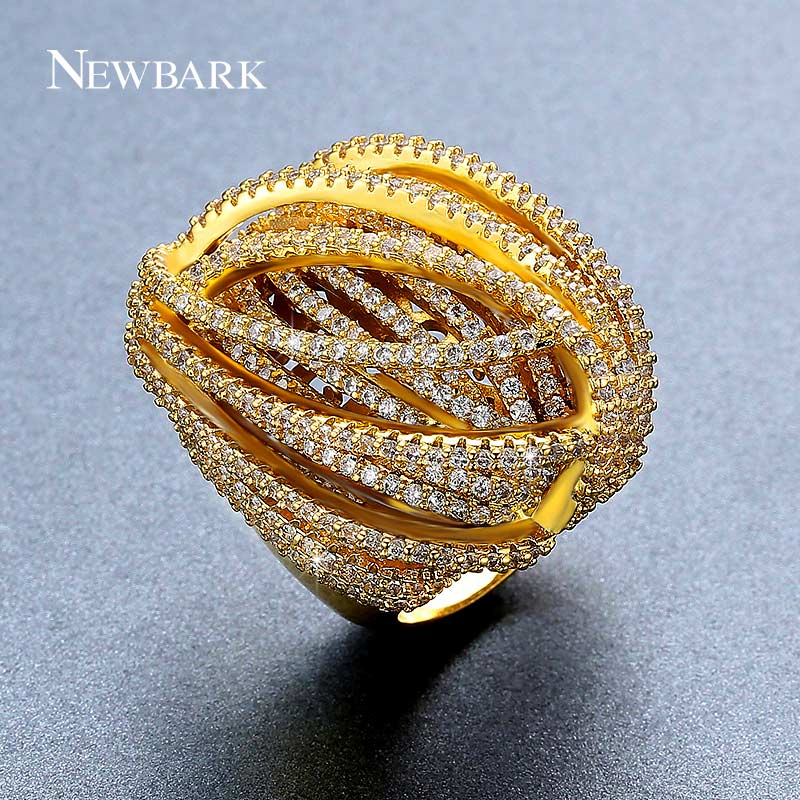 NEWBARK Exaggerated Personality Ring Female Fashion Statement Big Ring Jewelry Available In Sizes 7 8 9