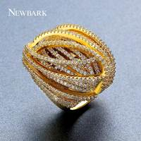 NEWBARK Exaggerated Personality Ring Female Fashion Statement Big Ring Jewelry Available in Sizes 7 8 9 Gold color