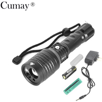 3 In 1 Zoomable Led Flashlight With Red Green Laser Pointer Light Torch For Outdoor