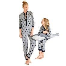 MUQGEW/модный Женский Детский комбинезон с длинными рукавами и принтом звезды для мальчиков и девочек; семейная Ночная одежда