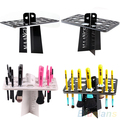 HotPortable Folding Collapsible Air Drying Makeup Brush Acrylic Rack Holder  2UGV 7D74