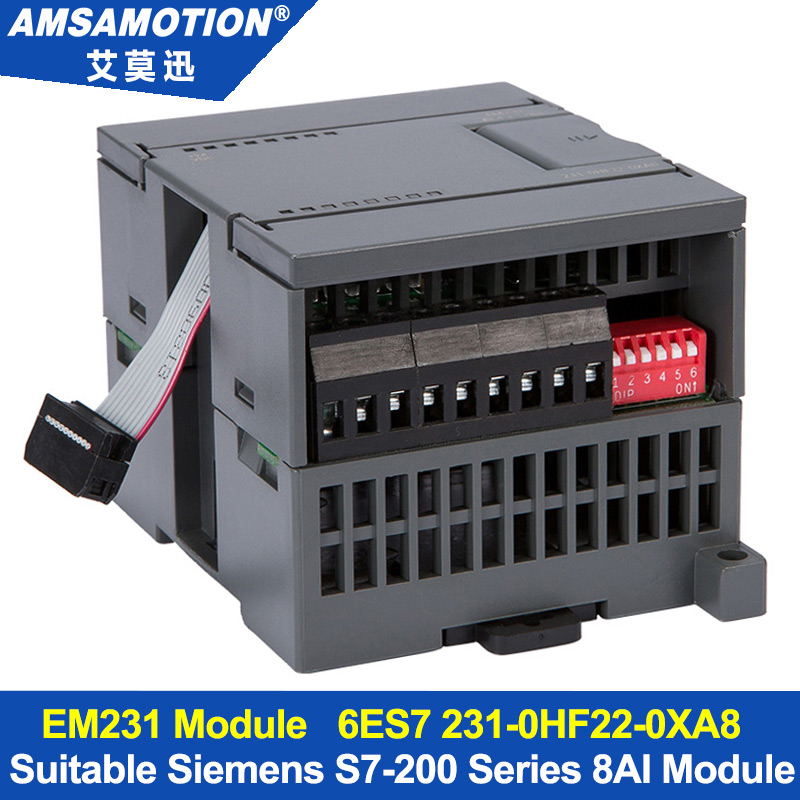 Amsamotion 8AI Extension Module Suitable Siemens S7-200 PLC 8 Input Analog Module EM231 6ES7 231-0HF22-0XA8 цена