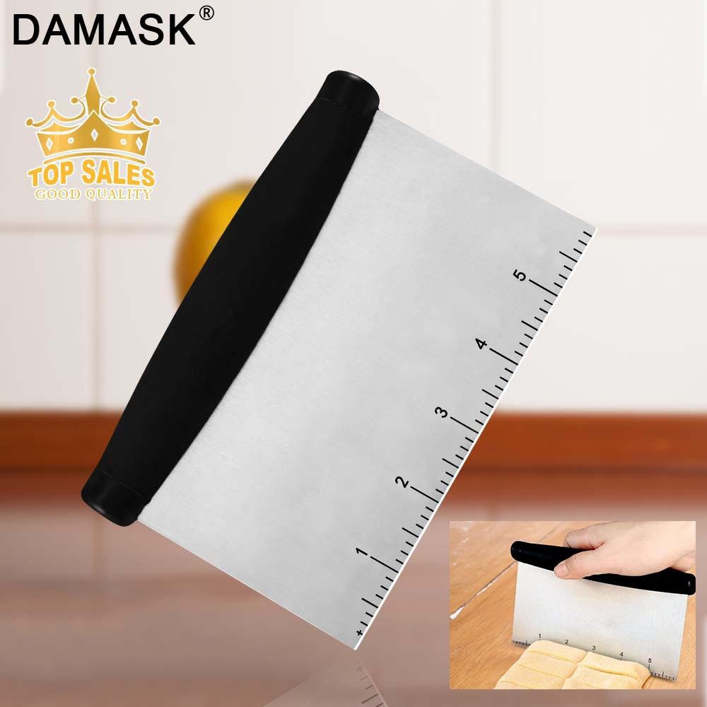 Damask Pizza Dough Scraper Cutter Dough Knife Divider Flour Pastry Cake Pizza Cutting Tools Fondant Cake Decoration Spatulas нож для пиццы