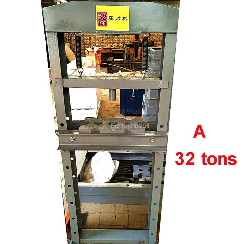 1PC 32 Tons Large Heavy Duty Hand Operate Manual Hydraulic Pressure Punch Die Cutting Machine Punching Cutting Machine